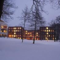 Insula Dei in de sneeuw