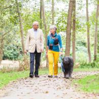 wandelen met hond op Landgoed Rennen Enk